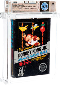 Donkey Kong Jr. [Gloss Sticker, First Production] Wata 6.5 CIB NES Nintendo 1986 USA