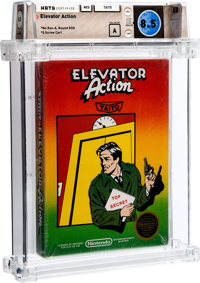 Elevator Action [No Rev-A, Round SOQ, Early Production] Wata 8.5 A Sealed NES Taito 1987 USA