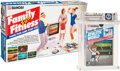 Athletic World: Family Fun Fitness [Gloss Plain Sticker, First Production] Wata 9.6 A++ Sealed NES Bandai 1987 USA. With...