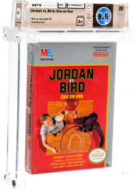 Jordan Vs Bird: One On One [Oval SOQ TM] Wata 8.5 A+ Sealed NES Milton Bradley 1989 USA
