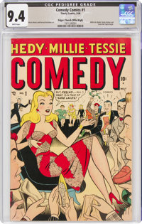 Comedy Comics #1 Mile High Pedigree (Marvel, 1948) CGC NM 9.4 White pages