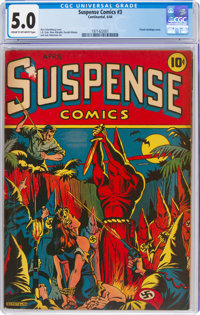 Suspense Comics #3 (Continental Magazines, 1944) CGC VG/FN 5.0 Cream to off-white pages