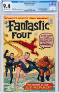 Silver Age (1956-1969):Superhero, Fantastic Four #4 (Marvel, 1962) CGC NM 9.4 Off-white to white pages....