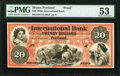 Obsoletes By State:Maine, Portland, ME- International Bank $20 186_ G12b Wait 139A Proof PMG About Uncirculated 53.. ...