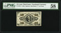 Fractional Currency:Third Issue, Fr. 1252 10¢ Third Issue PMG Choice About Unc 58.. ...