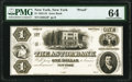Obsoletes By State:New York, New York, NY- Astor Bank $1 18__ G2 Proof PMG Choice Uncirculated 64.. ...