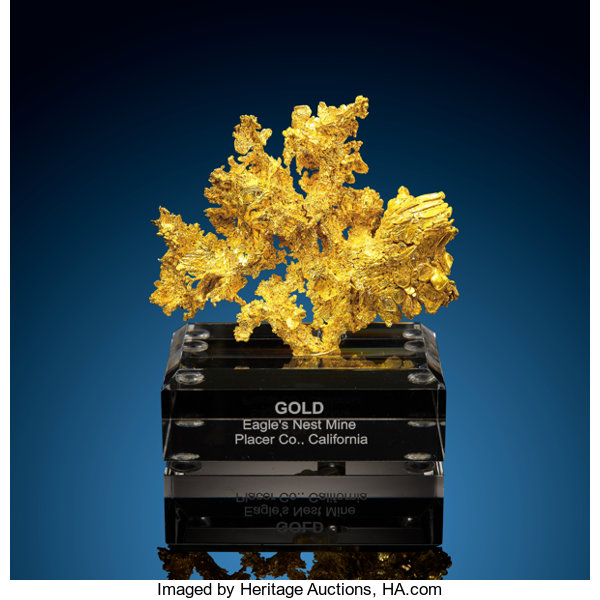 Minerals:Golds, Crystallized Gold. Eagle's Nest Mine (Mystery Wind Mine). Sage Hill, Michigan Bluff Mining District...
