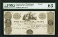 Obsoletes By State:Pennsylvania, Philadelphia, PA- Schuylkill Bank $1000 18__ UNL Proof PMG Choice Uncirculated 63.. ...