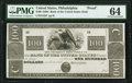Obsoletes By State:Pennsylvania, Philadelphia, PA- Bank of the United States (2nd) $100 18__ G32 as Hoober 305-153 Proof PMG Choice Uncirculated 64...