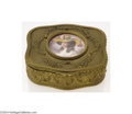 Decorative Arts, Continental:Other , AN IVORY AND BRONZE HINGED BOX (French)