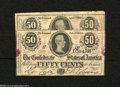 Confederate Notes:1863 Issues, T63 50 Cents 1863 Two Examples.... (2 notes)
