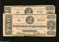 Confederate Notes:1864 Issues, T70 $2 1864 Two Examples.... (2 notes)