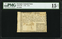 Georgia 1776 $1/4 PMG Choice Fine 15 Net