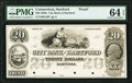 Obsoletes By State:Connecticut, Hartford, CT- City Bank of Hartford $20 18__ as G18 Proof PMG Choice Uncirculated 64 EPQ.. ...
