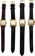 Timepieces:Wristwatch, Four Hamilton Watches, Bagley & Dixon in Original Boxes, L...
