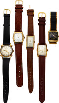 Timepieces:Wristwatch, Five Bulova Watches, Doctor's, Senator, Knotted Lugs, 1937...