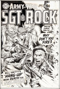 "Original Comic Art:Covers, Joe Kubert Our Army at War #221 ""Sgt. Rock"" Cover Original Art (DC Comics, 1970)...."