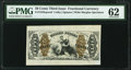 Fractional Currency:Third Issue, Fr. 1343SP 50¢ Third Issue Justice Wide Margin Face PMG Uncirculated 62.. ...