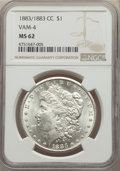 1883/1883-CC $1 VAM-4, MS62 NGC. CAC. NGC Census: (1958/20891). PCGS Population: (3387/41714). CDN: $197 Whsle. Bid for...