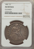 1842 $1 -- Cleaned -- NGC Details. AU. Mintage 184,618. ...(PCGS# 6928)