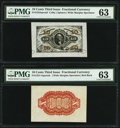 Fractional Currency:Third Issue, Fr. 1253SP 10¢ Third Issue Wide Margin Face PMG Choice Uncirculated 63;. Fr. 1251-54SP 10¢ Third Issue Wide Margin Back PM... (Total: 2 notes)
