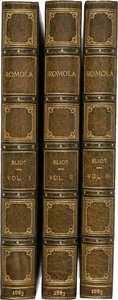 Books:Literature Pre-1900, George Eliot. Romola. London: 1863. First edition.... (Total: 3 Items)