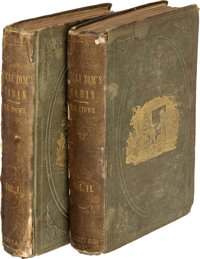 "Harriet Beecher Stowe. Uncle Tom's Cabin. Boston: 1852. Second printing, with the ""Tenth Thousa"