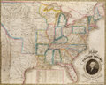 Books:Maps & Atlases, H[umphrey]. Phelps. Map of the United States. New York: 1833....