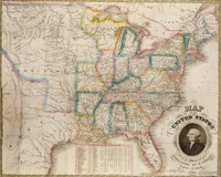 H[umphrey]. Phelps. Map of the United States. New York: 1833
