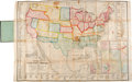 Books:Maps & Atlases, P.S. Duval & Son. Military Map of the United States & Territories. Philadelphia: 1861....