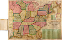 S[amuel]. Augustus Mitchell. Mitchell's National Map of the American Republic or United States of North America. Phi
