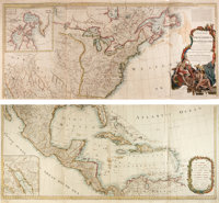 Robert Sayer. A New Map of North America with the West India Islands. Divided according to the Preliminary Articles of P...