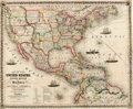 Books:Maps & Atlases, Thayer, Bridgman & Fanning. Map of the United States, Canada, Mexico and the West Indies with Central America. New Y...
