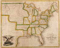 Solomon Schoyer. Map of the United States Drawn from the most approved Surveys. New York: 1826