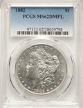 1882 $1 MS62 Deep Mirror Prooflike PCGS. PCGS Population: (55/217). NGC Census: (34/124). MS62. ...(PCGS# 97133)