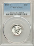 1939-S 10C MS66+ PCGS. PCGS Population: (387/72 and 4/8+). NGC Census: (309/140 and 1/1+). CDN: $45 Whsle. Bid for NGC/P...