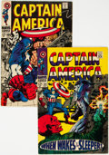 Silver Age (1956-1969):Superhero, Captain America #101 and 106 Jack Kirby-Signed Group (Marvel, 1968) Condition: Average VG+.... (Total: 2 )