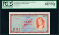 World Currency, Luxembourg Grand-Duche de Luxembourg 100 Francs 15.6.1956 Pick 50s Specimen PCGS Superb Gem New 68PPQ.. ...
