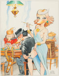 Original Comic Art:Paintings, Carl Barks The Lady Known as Lou with Ducks Original Painting and Related Correspondence Group of 3 (1978).. ... (Total: 3 Original Art)