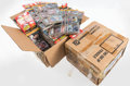 Baseball Cards:Unopened Packs/Display Boxes, 1985 Donruss Baseball Rack Open Case Pair (2) - 144 Total Rack Packs!...
