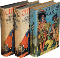 John Steinbeck. Three copies of Cup of Gold. New York: 1929. Two firsts and one second edition. One signed.... (Total: 3...