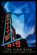 "Movie Posters:Animation, The Lion King (Buena Vista, 1994). Rolled, Very Fine+. One Sheets (7) Identical (27"" X 40""). SS Advance, Radio City Music Ha... (Total: 7 Items)"