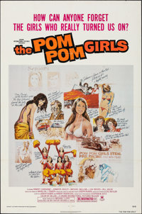 "The Pom Pom Girls (Crown International, 1976). Folded, Overall: Very Fine-. One Sheets (2) (27"" X 41"") Two Sty..."