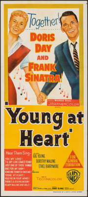 """Young at Heart (Warner Bros., 1955). Folded, Very Fine+. Australian Daybill (13.5"""" X 30""""). Musical"""