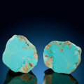 Minerals:Small Cabinet, Turquoise Nodule (Set of 2). Mona Lisa Mine (Porter Ridge Mine; McBride Mine; Blue Bird Mine; Newton Mine). Porter Mou... (Total: 2 Items)