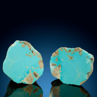 Turquoise Nodule (Set of 2) Mona Lisa Mine (Porter Ridge Mine; McBride Mine; Blue Bird Mine; Newton Mine) Porter Mou...