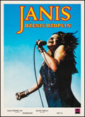 """Movie Posters:Rock and Roll, Janis (Universal, 1976). Very Fine- on Linen. Serbian Poster (20"""" X 27.5""""). Rock and Roll.. ..."""
