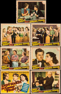 """Movie Posters:Comedy, Andy Hardy Gets Spring Fever (MGM, 1939). Fine+. Trimmed Title Lobby Card (10.75"""" X 13.75"""") & Lobby Cards (6) (Approx. 11"""" X... (Total: 7 Items)"""