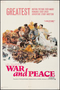 "Movie Posters:Foreign, War and Peace (Continental, 1968). Folded, Fine+. One Sheet (27"" X 41""). Foreign.. ..."