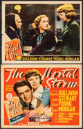 """Movie Posters:War, The Mortal Storm (MGM, 1940). Fine+. Title Lobby Card & Trimmed Lobby Card (Approx. 11"""" X 14""""). War.. ... (Total: 2 Items)"""